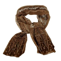 Insect Shield Scarf - brown 90*180 cm