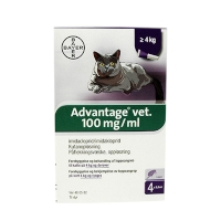 Loppemiddel Advantage Kat over 4kg 4*0,8ml